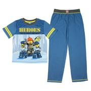 LEGO City Heroes Boys' Police Fireman 2 Piece Shirt And Pants Pajama Set