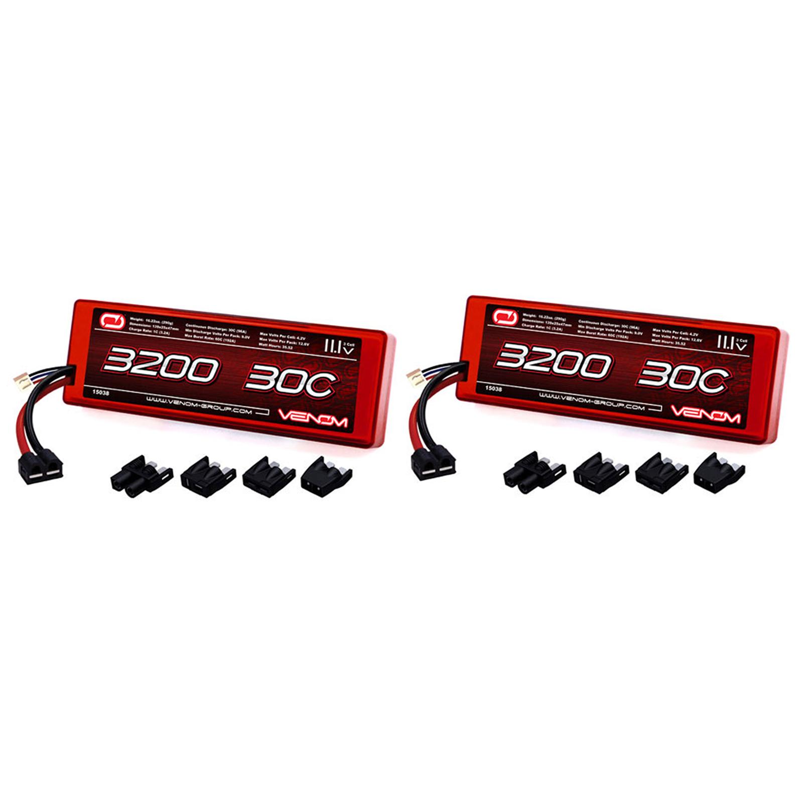 Venom 30C 3S 3200mAh 11.1V Hard Case LiPo Battery ROAR with Universal Plug (EC3 Deans... by Venom