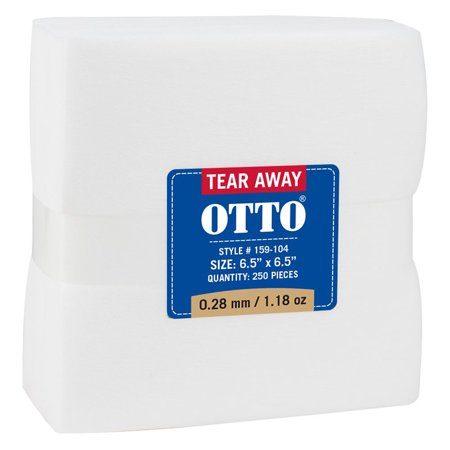 """Otto Cap Otto Cap Tear Away Backing Sheets 6.5"""" x 6.5"""", 0.28"""" mm 1.18 oz - Hat / Cap for Summer, Sports, Picnic, Casual wear and Reunion etc"""