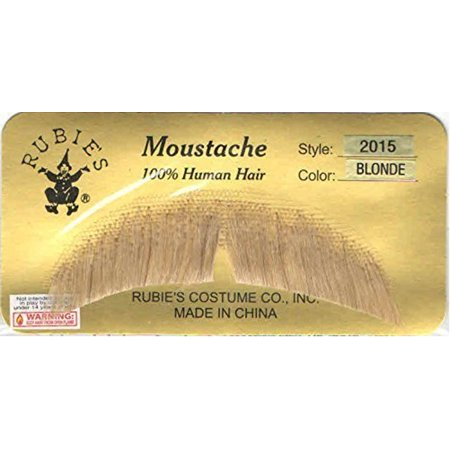 Blonde Basic Character Moustache 100% Human Hair Costume Accessory Adult (Blonde Hair Costumes)