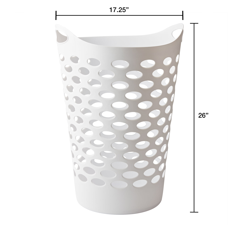 Mainstays Flexible White Laundry Hamper 26 Walmart Com Walmart Com