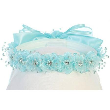 Little Girls One Size Flower Girl Hair Wreath Headband Floral Flower Girl Crown Crown