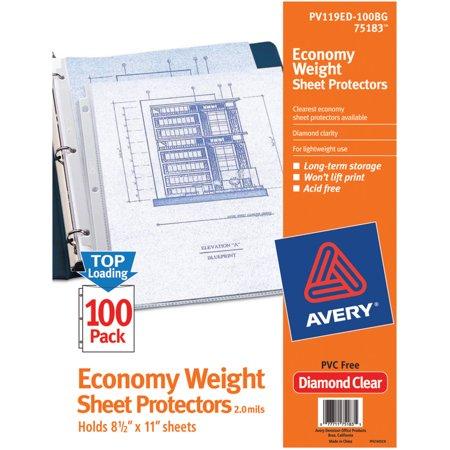 Avery Economy Clear Sheet Protectors 75183 Acid Free Bag