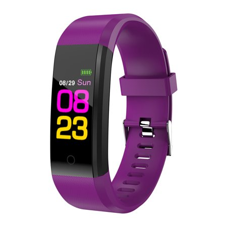 Sports Smart Watch Fitness Smart Bracelet Blood Pressure Heart Rate Sleeping Monitor Distance Calories Step Counter Message Call Reminder Smart Sports Wristband - image 1 of 7