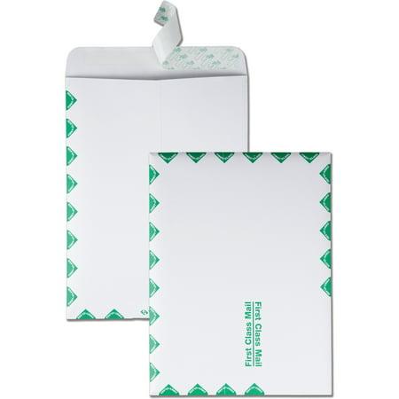 Quality Park, QUA44534, First-Class Catalog Envelopes, 100 / Box, White - First Day Envelope