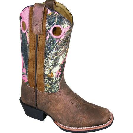 Smoky Mountain Girls' Mesa Camo Western Boot Square Toe - 3449Y