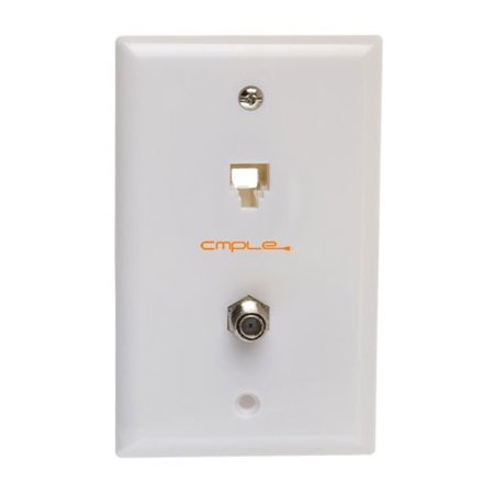 Cmple Modular Phone & Coaxial Wall Plate