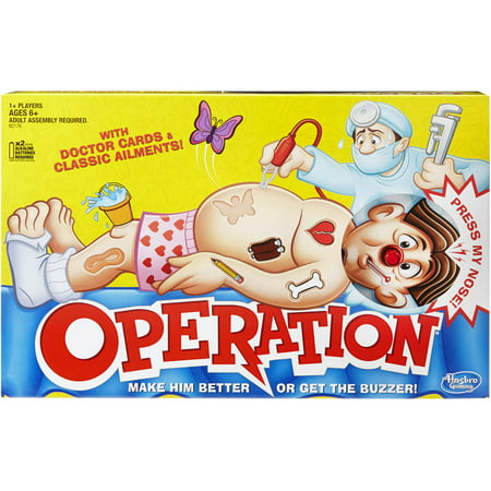 Classic Family Favorite Operation Game, Ages 6 and up (New Halloween Games)