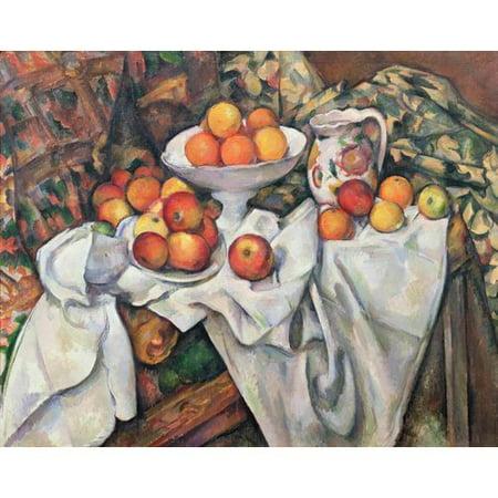 - Fleur De Lis Living 'Apples and Oranges' by Paul Cezanne Oil Painting Print Poster