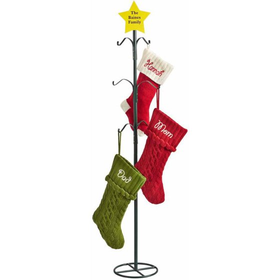 Western Christmas Stockings Personalized.Personalized Metal Christmas Stocking Holder Star Design