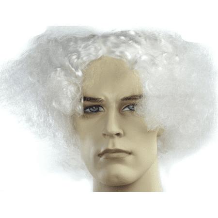 White Wig Doc Brown Back To Future Mark Twain Albert Einstein Rick And Morty (Mark Twain Wig)