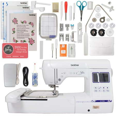 """Brother SE1900 Combination Sewing and Embroidery Machine with 5""""x7"""" Embroidery Field and Large Color Touch LCD screen"""