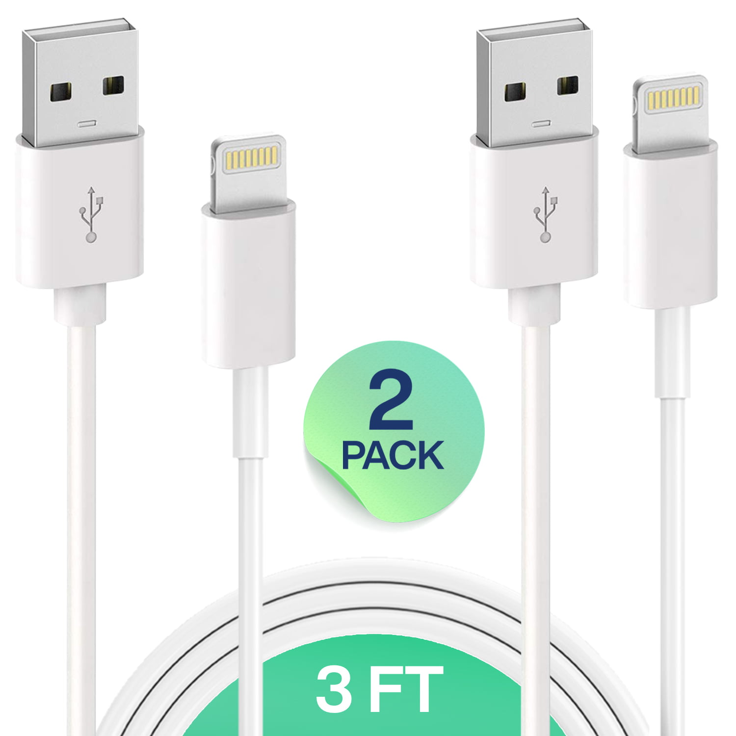 for Apple iPhone Xs,Xs Max,XR,X,8,8 Plus,7,7 Plus,6S,6S Plus,iPad Air,Mini,iPod Touch,Case Certified Charging /& Syncing Cord iPhone Charger Lightning Cable 5 Pack 10FT USB Cable Infinite Power