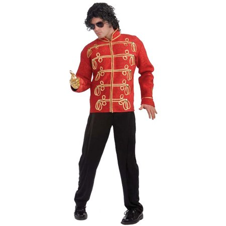 M Jackson Military Halloween Jacket Costume](Michael Jackson Red Zipper Jacket)
