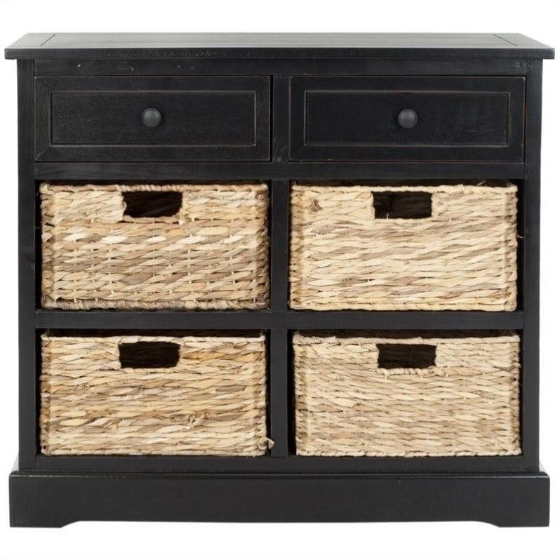 Safavieh Harry Wood Storage Unit in Black