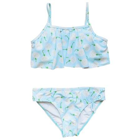 So Sydney Swim Girls' Two Piece Flounce Bikini Swimsuit Bathing Suit