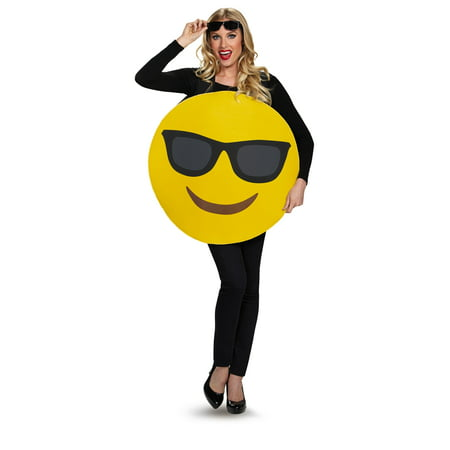 Sunglasses Emoticon Adult Halloween Costume, One Size, Up to 52 (Japanese Emoticons Halloween)