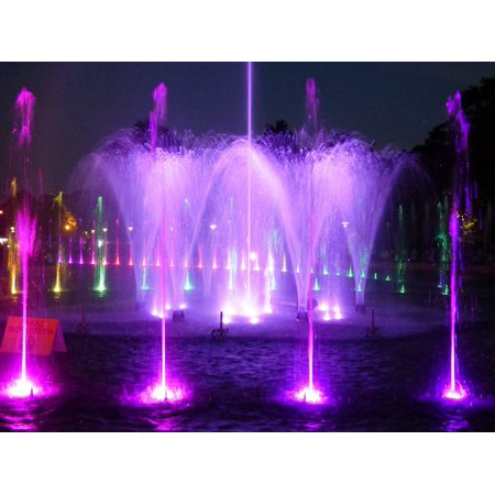 Flowing Water Fountain Preview Laser Water Light Poster Print 24 X 36