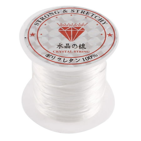 Unique Bargains 10M Jewelry Bracelet Stretchy Elastic Beading Thread String Cord White (String Bracelet)