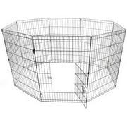 ALEKO SDK-36B Dog Playpen Pet Kennel Pen Exercise Cage Fence, 8-Panel