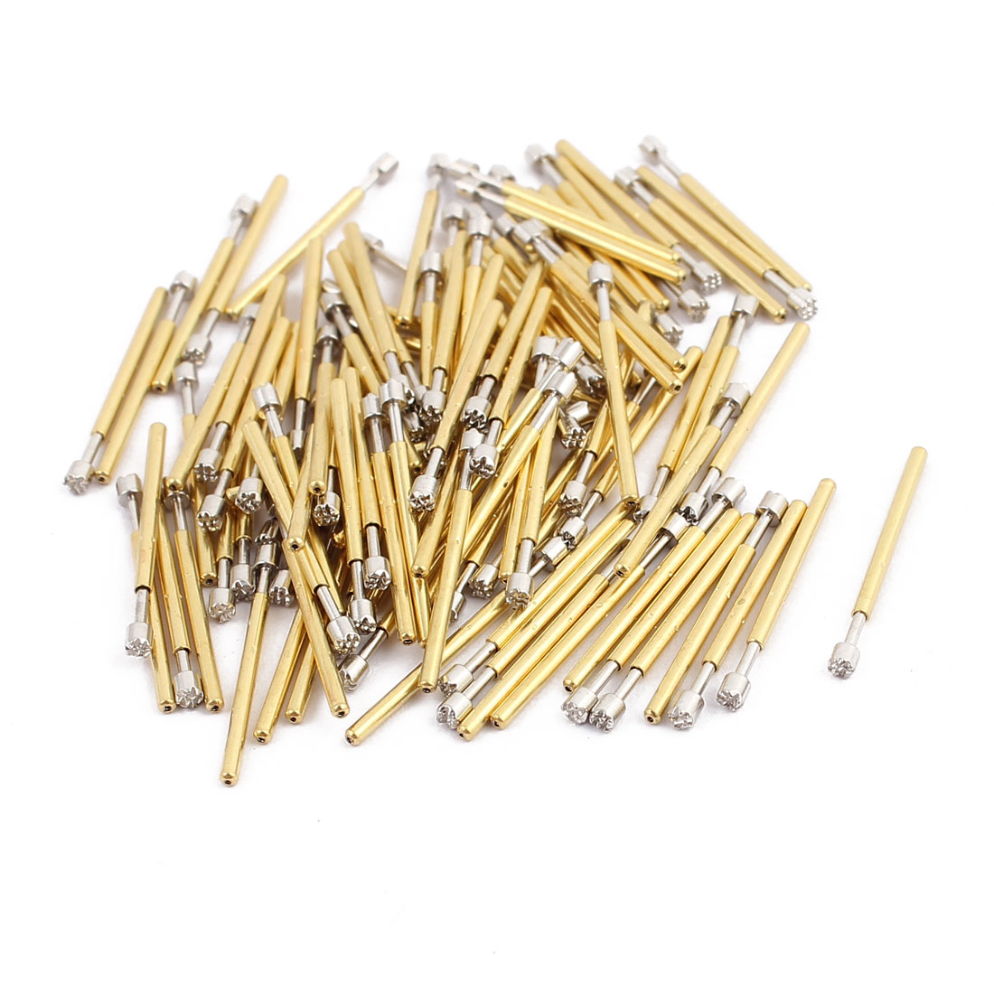 100pcs P75-H3 1.0mm Dia 16.8mm Length Metal Spring Pressure Test Probe Needle