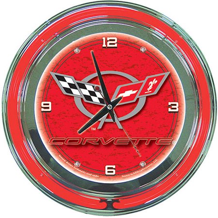 Corvette C5 14 Quot Neon Wall Clock Red Walmart Com