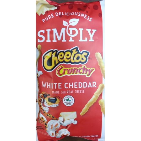 Simply Cheetos Crunchy White Cheddar Cheese Flavored Snacks, 2 7/8 oz