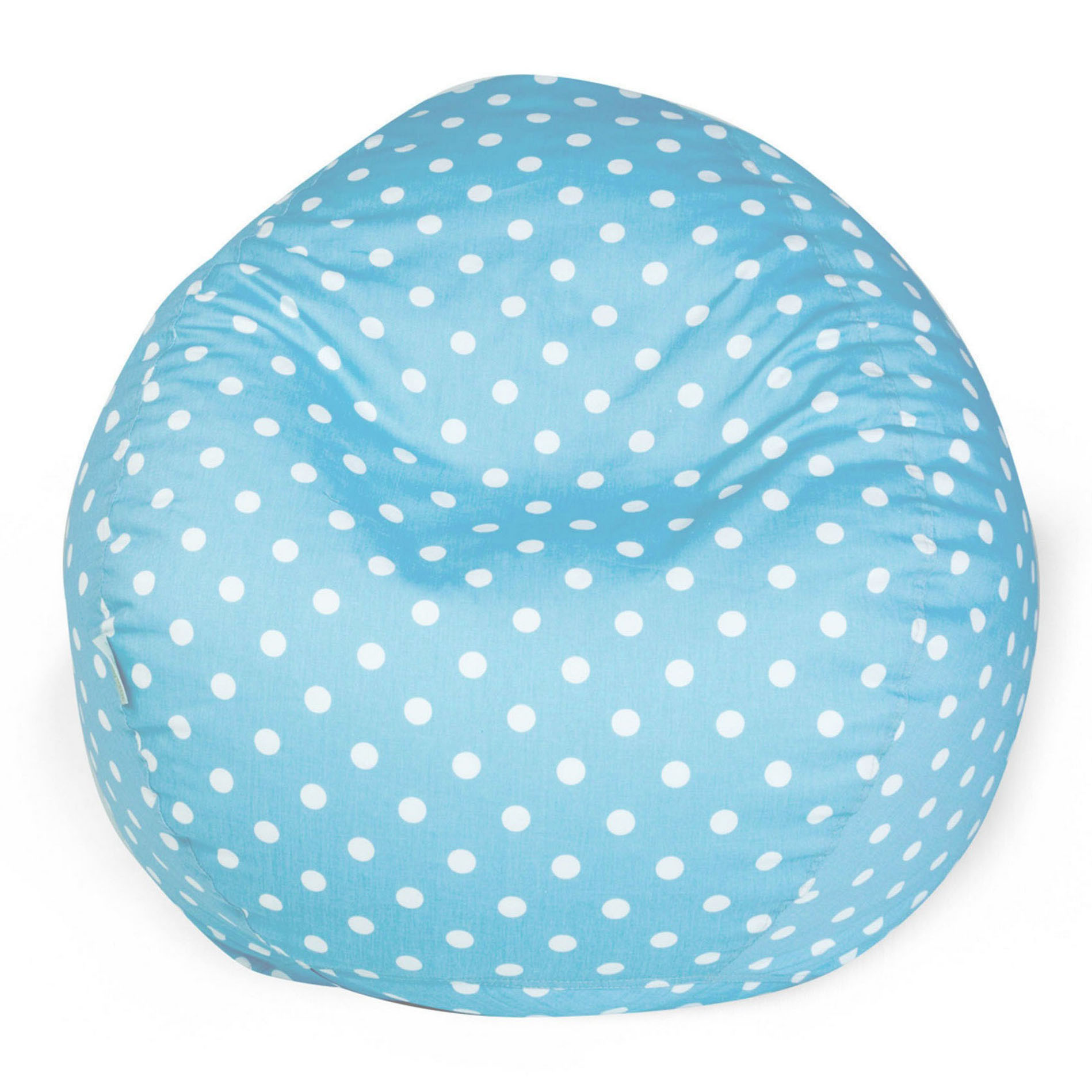 Majestic Home Goods Indoor Aquamarine Small Polka Dot Classic Bean Bag Chair 28 in L x 28 in W x 22 in H