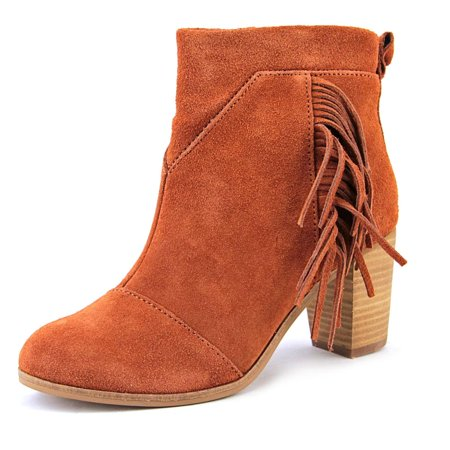 Toms Lunata Bootie Women  Round Toe Suede Brown - Adidas Booties