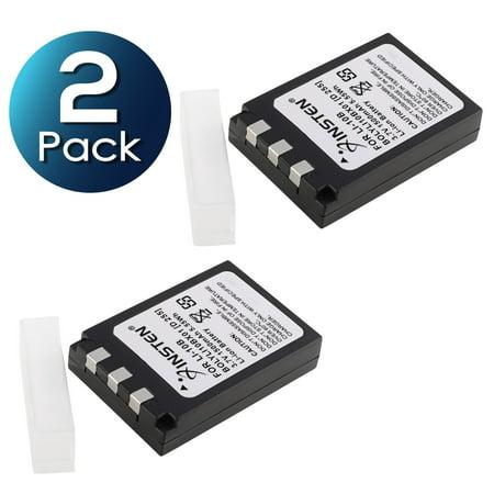 10b Battery (Insten 2 Battery Li-10B Li-12B for Olympus c-770 c-765 X760 c-7000 c-5000 c-70 c-60 c50 / D-590 / IR-500 / X-500 X-3 X-2 (2-Pack Bundle) )