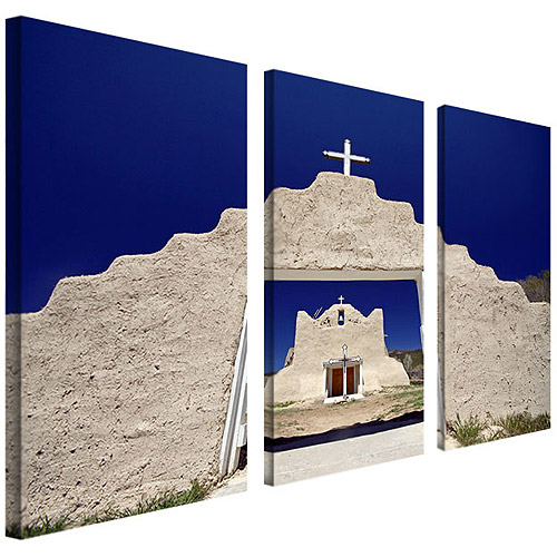 "Trademark Art ""Mountain Scenery"" Canvas Art by CATeyes, 3-Piece Panel Set, 12x24"