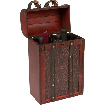 14 tall treasure chest wine box wooden holds 2 wine bottles 14 tall treasure chest wine box wooden holds 2 wine bottles by publicscrutiny Image collections