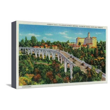 Arroyo Seco Bridge, Colorado Street Bridge - Pasadena, CA Stretched Canvas Print Wall Art By Lantern (Pasadena Colorado)