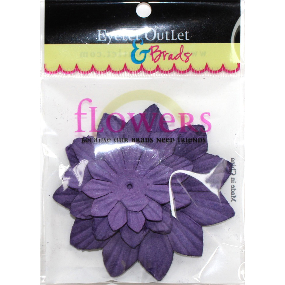 Eyelet Outlet Flowers 40/Pkg-Purple267