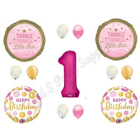 1ST BIRTHDAY TWINKLE TWINKLE LITTLE STAR GIRL Balloons Decoration Supplies Nursery Rhymes