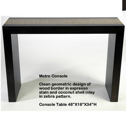 Indo Puri Metro Console Table