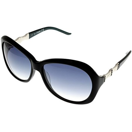 Just Cavalli Sunglasses Womens JC0263S 5P Black Silver Green Petrol Rectangular Size: Lens/ Bridge/ Temple: (Petrol Rectangular Sunglasses)