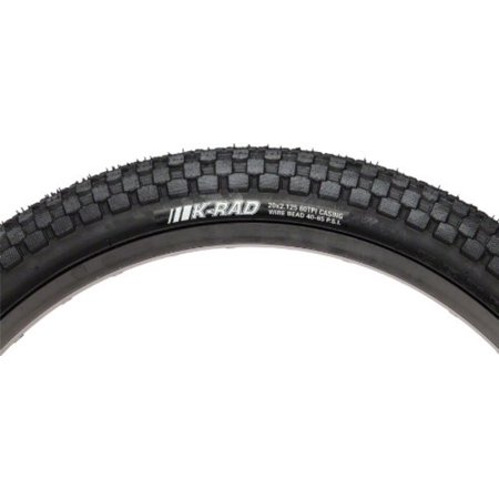 24X1.95 K-Rad Wire Tire, Inverted tread design and knurled tread surface are low profile and fast rolling without sacrificing traction By