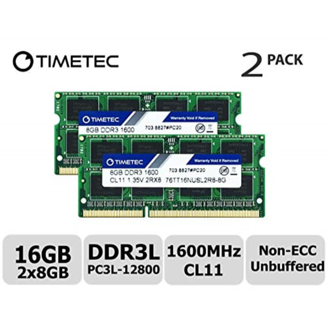 Samsung 16GB KIT 2X8GB PC3L-12800S DDR3-1600MHZ 1.35v SO-DIMM Laptop Memory RAM