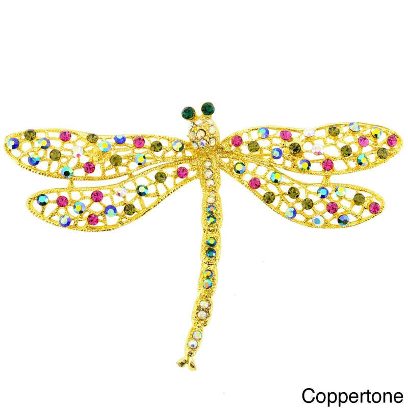 Fantasyard Multicolor Dragonfly Pin Brooch and Pendant by Overstock