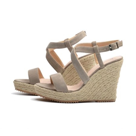 Hemu Fashion Fashion Sandals Girls Summer Soft Bottom Shoes Rope Weaved High Heels Sandal Walmart Canada