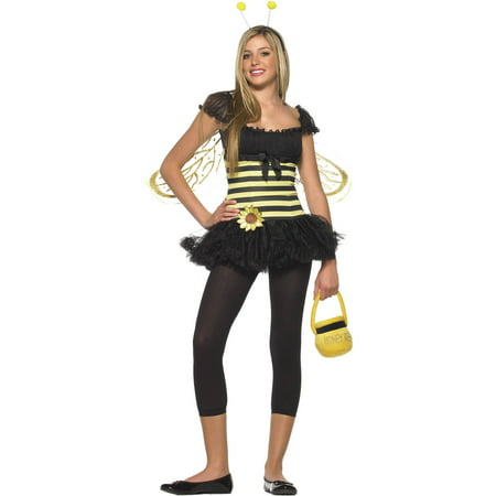 Sunflower Bee Teen Halloween - Bumble Bee Homemade Halloween Costumes