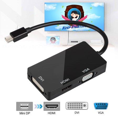 EEEkit 3-in-1 Mini DisplayPort DP to DVI VGA HDMI Adapter Cable for Mac Book Pro Air Microsoft Surface, DisplayPort to HDMI 1080P Adapter Video Display Converter ()