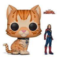 Warp Gadgets Bundle - Funko Pop Marvel Captain Marvel - Goose The Cat and Figpin - Captain Marvel - Collectible Enamel Pin (2 Items)