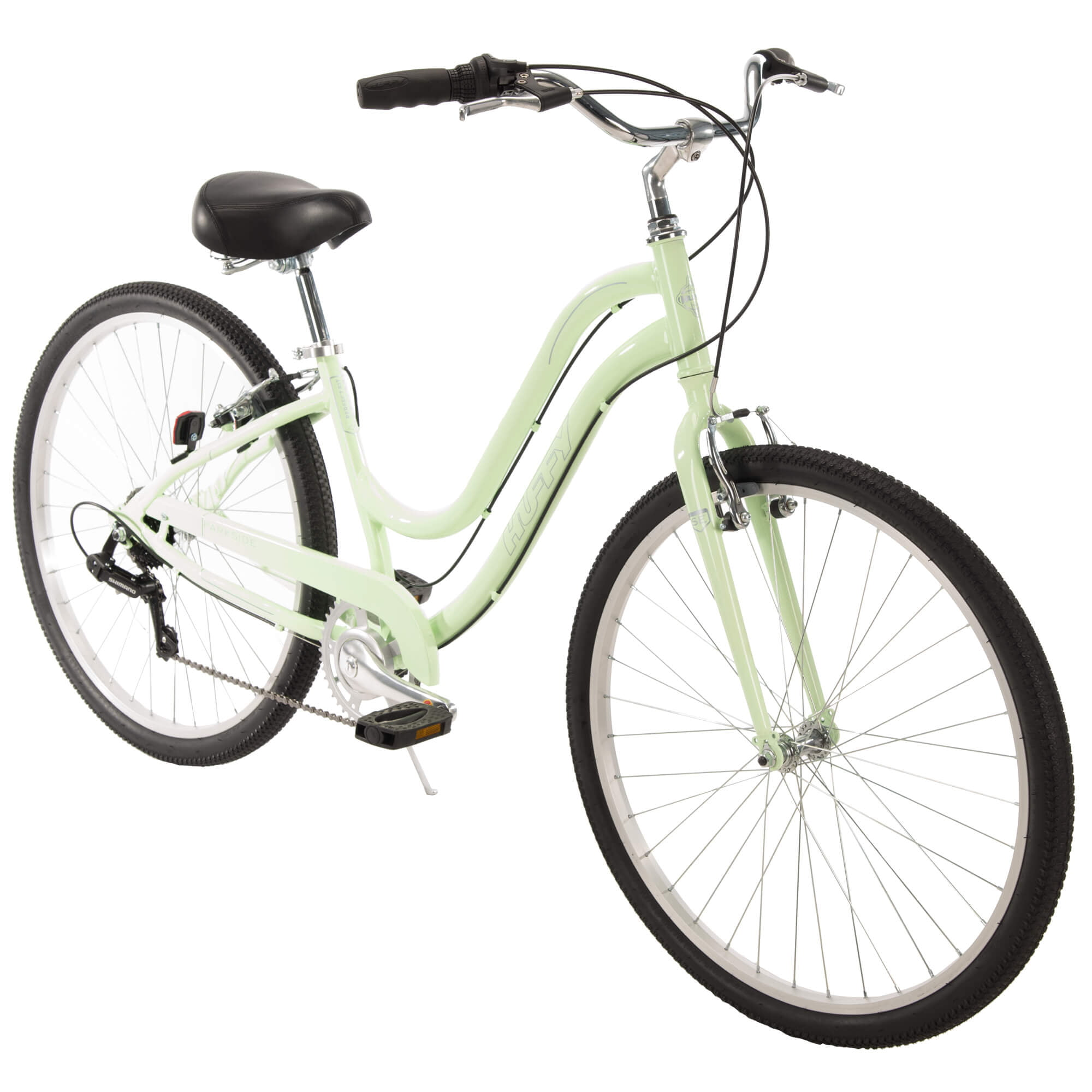 "Huffy 27.5"" Parkside Womens 7-Speed Comfort Bike with Perfect Fit Frame, Mint by Huffy"