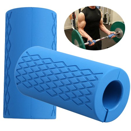 Thick Bar Grips, Non-slip Barbell Grips Silicone Rubber Dumbbell Grips Fat Bar Training And Muscle Growth Easily Attachable to Any Barbell, Dumbbell and