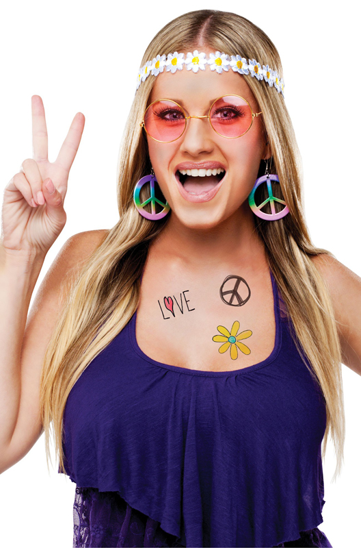 New Dreamgirl 10656 Groovy Baby Hippie Costume