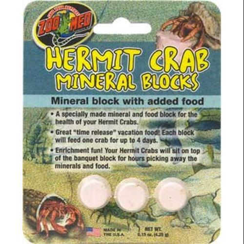 Zoo Med Laboratories SZMHC62 Zoo Hermit Crab Mineral Blocks Multi-Colored