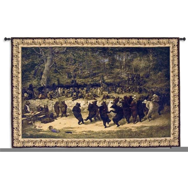 FineArtTapestries 4555-WH Bear Dance Wall Tapestry