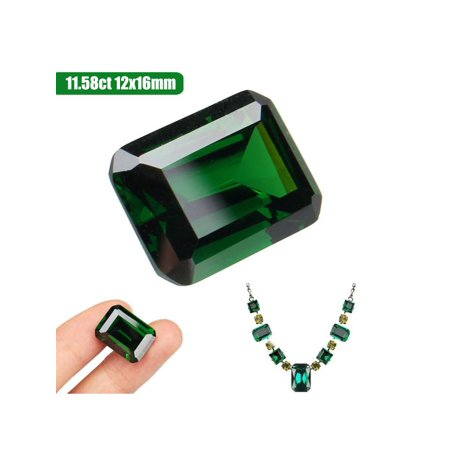 Cut Moissanite Stone - 11.58ct Natural Mined Green Loose Gemstone Emerald Colombia Emerald Cut AAAAAA+ Jewelry DIY Accessories